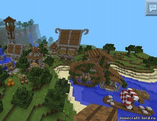 как построить деревню викингов в майнкрафте #6